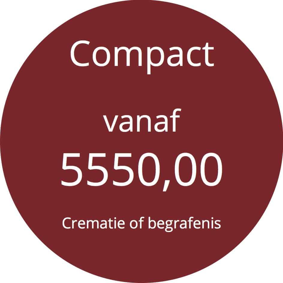 Prijs compact begrafenis crematie