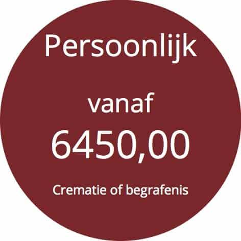 Prijs persoonlijk begrafenis crematie